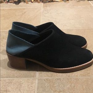All Black suede slip on shoes 38.5
